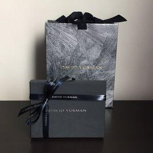 Authentic David Yurman Shopping Bag/Gift Card Box